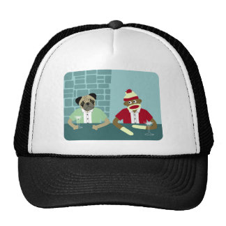 Pug & Sock Monkey Trucker Hat