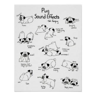 Pug Sound Effects Posters