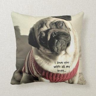 Pug Square Pillow