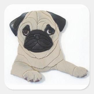 Pug Square Sticker