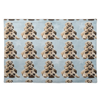 Pug Stack Cloth Placemat