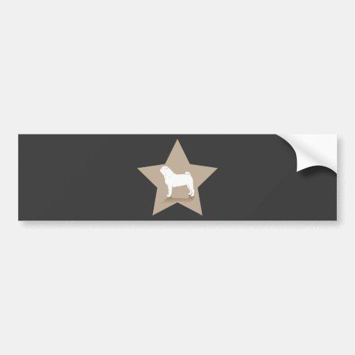 Pug Star Design Bumper Sticker