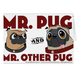 Pug Stuff Greeting Card