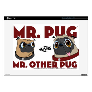 "Pug Stuff Skins For 15"" Laptops"