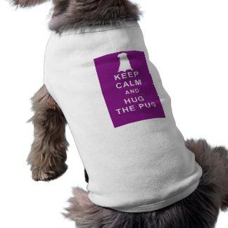 PUG T SHIRT KEEP CALM HUG THE PUG BIRTHDAY