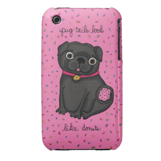 Pug Tails Look Like Donuts iPhone 3 Case-Mate Case
