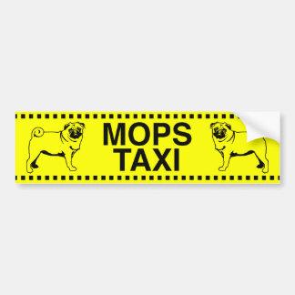 Pug taxi autosticker bumper sticker