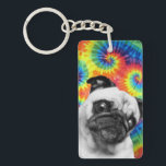 "Pug Tie Dye Key Ring<br><div class=""desc"">Make your keys snazzy with this sweet key ring!</div>"