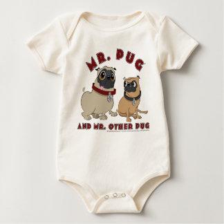 Pug Toddler Baby Bodysuits