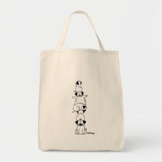 Pug Totem Tote Bag