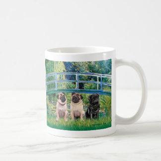 Pug Trio (2F,1B) - Bridge Coffee Mug