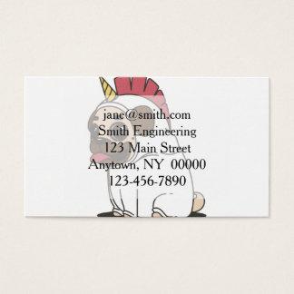 PUG UNICORN BUSINESS CARD