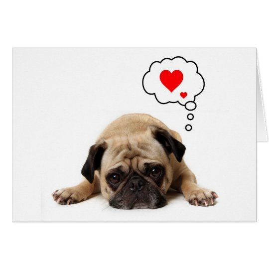 Pug Valentine Card