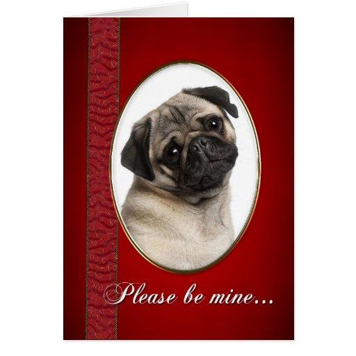 Pug Valentine Cards