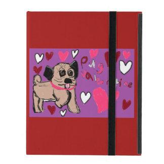 pug Valentine iPad Folio Case