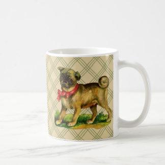 pug vintage coffee mug