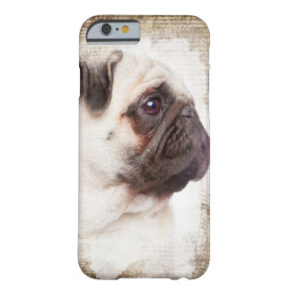 Pug Vintage Portrait Barely There iPhone 6 Case