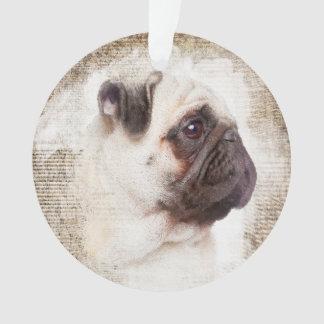 Pug Vintage Portrait Ornament