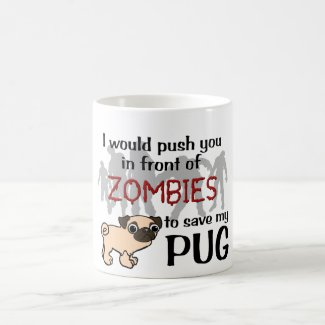 Pug vs Zombies Coffee Mug
