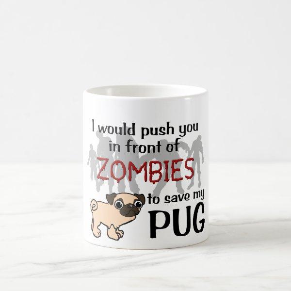 Pug vs Zombies Coffee Mug