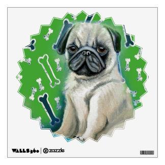 Pug Wall Decal Green