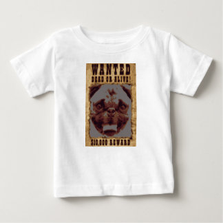 Pug Wanted Poster Baby Fine Jersey T-Shirt