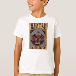 Pug Wanted Poster Kids' Hanes Tagless T-Shirt