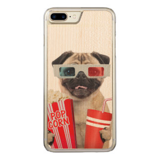 Pug watching a movie carved iPhone 7 plus case