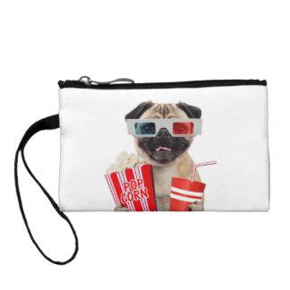Pug watching a movie coin purse