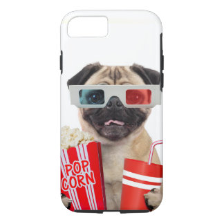 Pug watching a movie iPhone 7 case