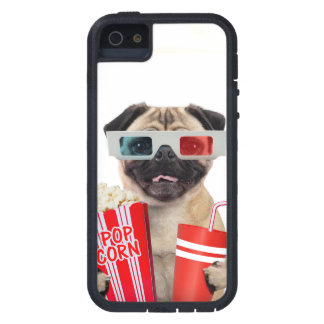Pug watching a movie iPhone SE/5/5s case