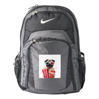Pug watching a movie nike backpack