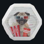 """Pug watching a movie white bluetooth speaker<br><div class=""""desc"""">dog&#160;, cinema&#160;, pug&#160;, funny&#160;, &quot;funny dog&quot;&#160;, &quot;puppy dog&quot;&#160;, &quot;dog movie&quot;&#160;, &quot;dog cute&quot;&#160;, &quot;dog cinema&quot;&#160;, &quot;dog 3d glasses&#160;&quot;, &quot;dog glasses&#160;&quot;, film&#160;, red&#160;, movie&#160;, popcorn&#160;, cute&#160;, pet&#160;, puppy&#160;, glasses&#160;, humor&#160;, soda&#160;, cup&#160;, puggle&#160;, cola&#160;, doggy&#160;, canine&#160;, &quot;3d glasses&#160;&quot;, &quot;dog funny&quot;&#160;, &quot;dog puppy&quot;&#160;, &quot;dog humor&quot;&#160;, &quot;movie dog&quot;&#160;, &quot;3d dog&quot;&#160;, &quot;dog popcorn&quot;&#160;, &quot;dog 3d&quot;&#160;, &quot;popcorn...</div>"""