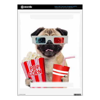 Pug watching a movie xbox 360 decals