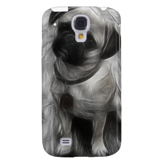 Pug Watercolor Fractal iPhone3G Cover Galaxy S4 Cases