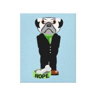 Pug Wearing a Suit Nope Canvas Prints