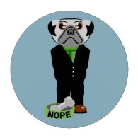 Pug Wearing a Suit Nope Poker Chip Set