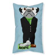 Pug Wearing a Suit Nope Small Dog Bed