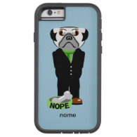 Pug Wearing a Suit Nope Tough Xtreme iPhone 6 Case