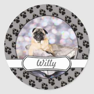Pug - Willy Classic Round Sticker