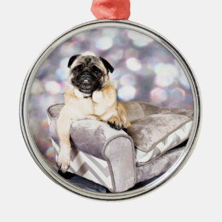 Pug - Willy Metal Ornament