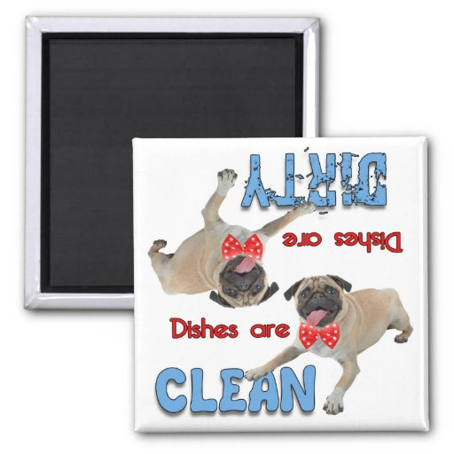 Pug With A Bow Tie Dog Lovers Dishwasher Magnet