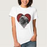 Pug with a Heart T-Shirt