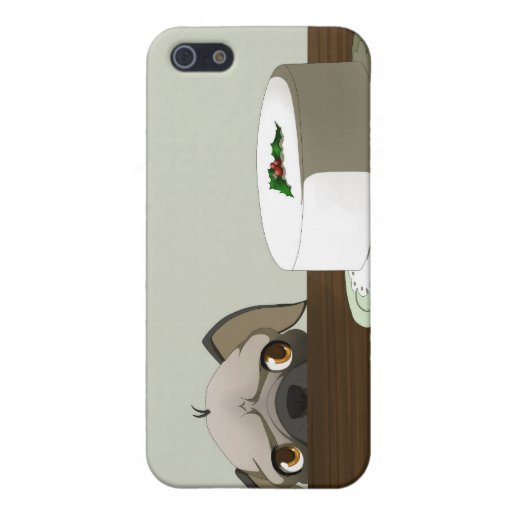 Pug with Christmas cake Case For iPhone 5