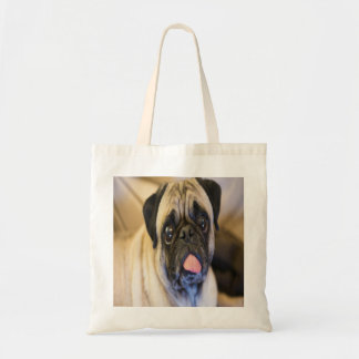 Pug With Tongue Sticking Out Tote Bag
