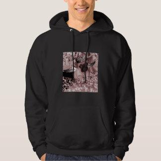 Pug with wings/skull hat Unisex Sweatshirt Hoodie