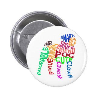 Pug Word Cloud Button