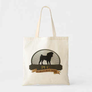 Pug - World's Best Dog! Tote Bags
