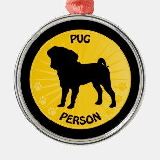 Pug Xing Metal Ornament