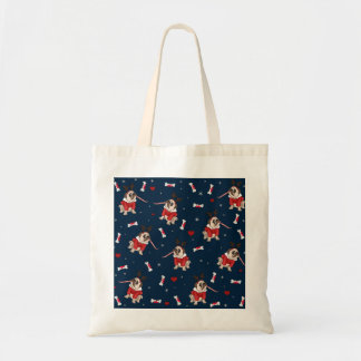 Pug Xmas Pattern Tote Bag